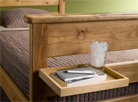 Dorm Room Bed Shelf